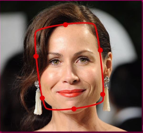 szögletes arcforma ellenőrzése
