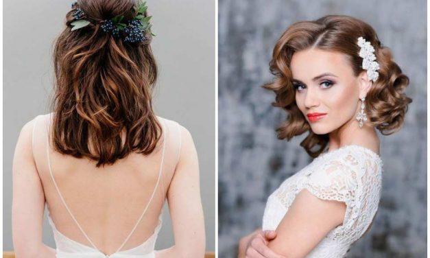 Félhosszú hajból lehet a legmesésebb esküvői frizurád!