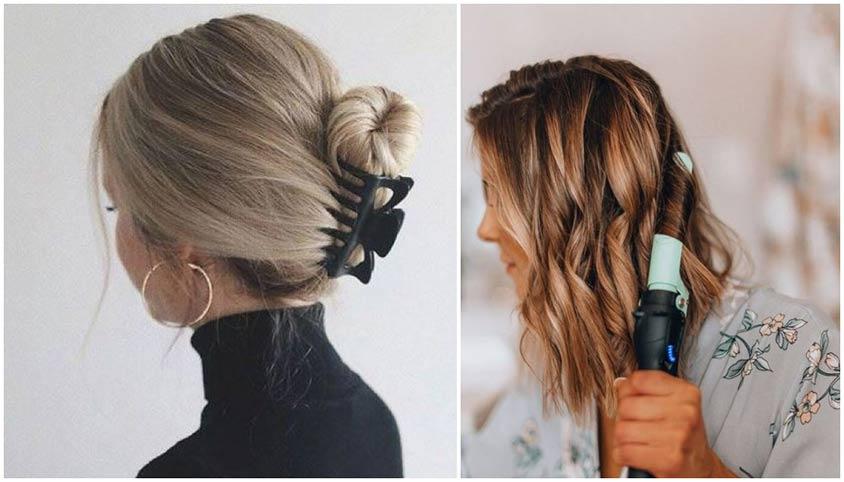Otthon is könnyen elkészíthető alkalmi frizurák félhosszú hajból