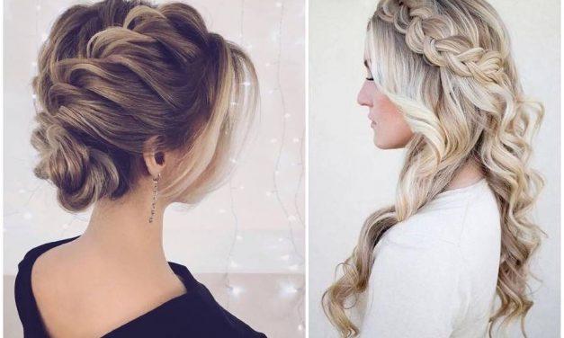 Ezek a legszebb alkalmi frizurák fonással (példa minden hajhosszra)