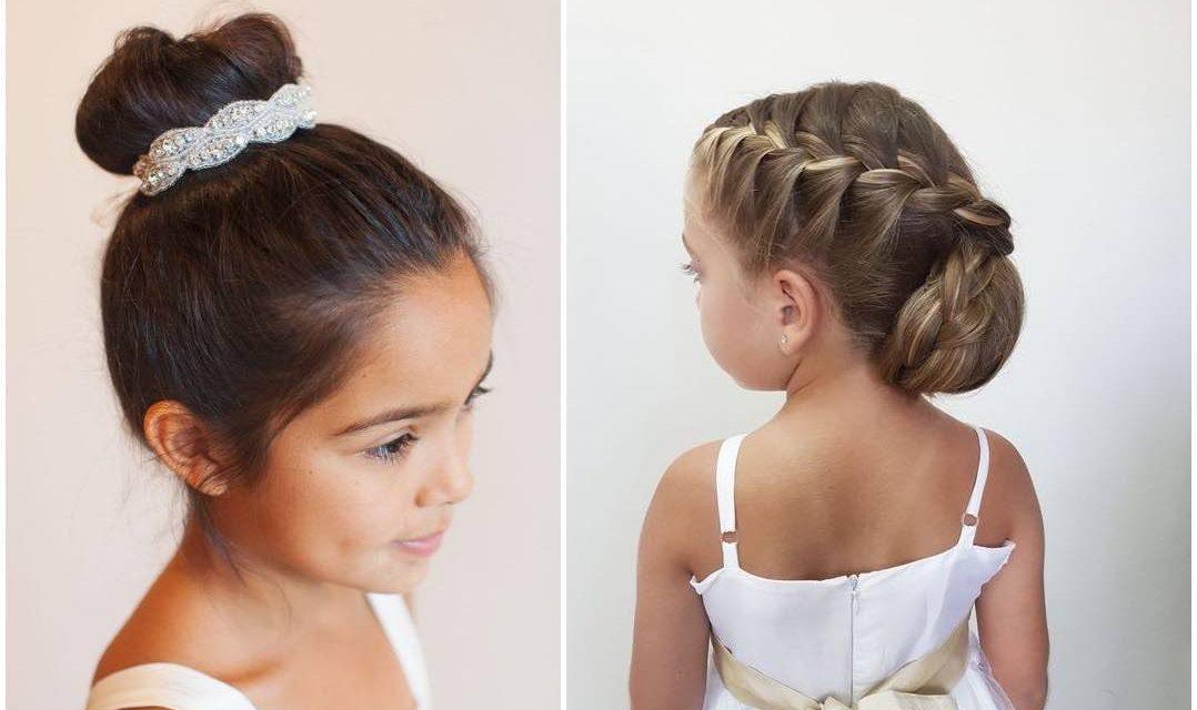 9 aranyos kislány alkalmi frizura